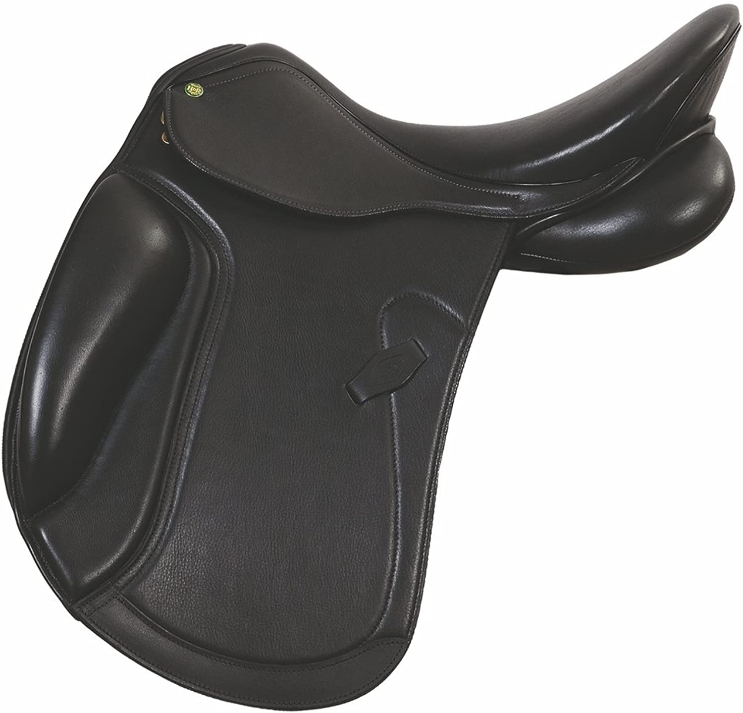 New Black Leather Dressage All Purpose English Horse Racing Tack & Saddle ES506 (14 inches, Black ES 506)