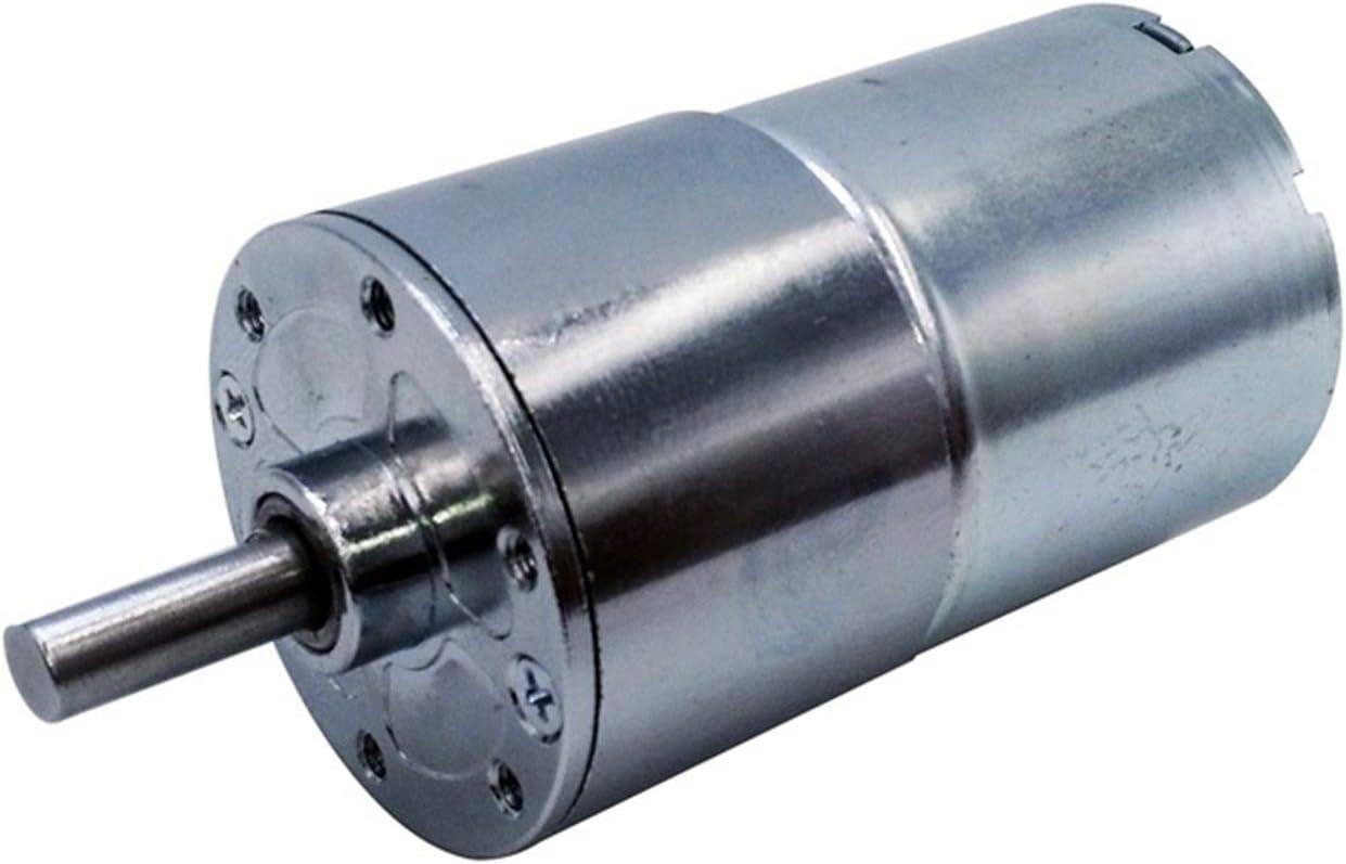 Wusfeng LHongBin-Motor DC GA37RG 24V 12V DC Motor 2-1000 RPM Velocidad de Salida Motor de Engranajes, 37 mm Eje Central, Amplia Gama de Aplicaciones (Speed(RPM) : 20 RPM, Voltage(V) : 24V)