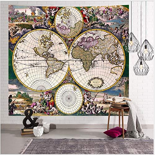 Mapa De Tiempo Retro 3D Impreso Digital Decoración para El Hogar Tapiz Colgante De Pared Fondo Paño Mural Yoga Picnic Mat Playa Toalla Manta Regalo Arte