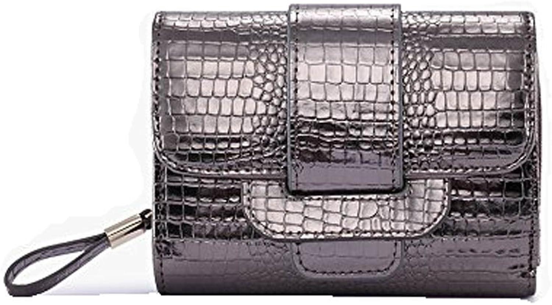 Christmas Genuine Leather Women Wallet Crocodile Grain Pattern Short Coin Purse