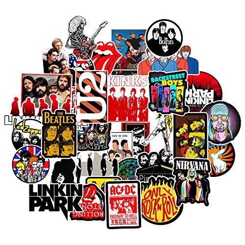 AXHZL Pegatinas de Graffiti de música nostálgica, Pegatinas de Motocicleta de monopatín de refrigerador agitado, Impermeables, 50 Uds.