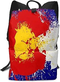 Large Athletic Backpacks Colorado Flag by Monogatari Work Laptops Rucksack Diaper for Women Teenager