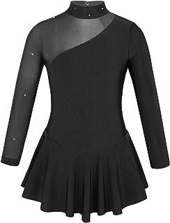 iEFiEL Kinder Mädchen Ballettkleid Eiskunstlauf-Kleid Swing Schaukel Tanzkleid Ballettanzug Langarm Body Trikot Turnanzug gr. 104-164