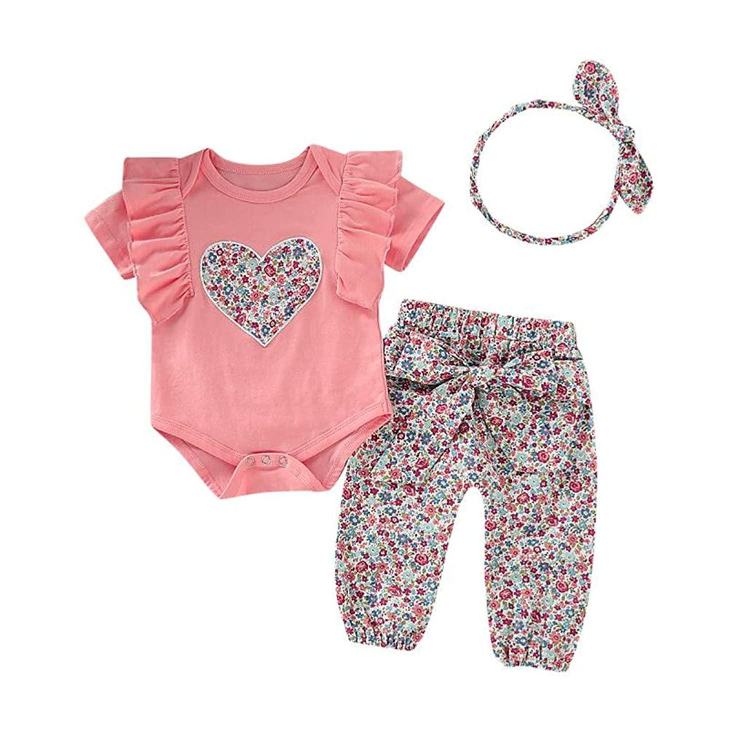Baby Girl Clothes Infant Girl Clothes Toddler Baby Girl Outfits Romper Bodysuit Jumpsuit Newborn Sets 3 Pcs