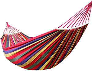 QWE Hammock outdoor single double thick canvas anti-rollover indoor college dormitory dormitory children s swing chair anti-rollover 190 150