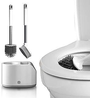 auvstar 2 en 1Premium Brosse WC,Brosse pour Cuvette,Brosse Toilette et Brosse de Nettoyage Set,avec Support Mural Jeu Vert...