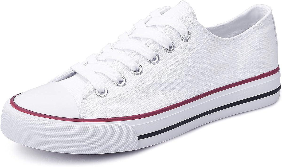 Obtaom Women's Canvas Shoes Low Top Fashion Sneakers Slip on Walking Shoe