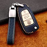 Car Key Fob Cover Smart Carcasa de aleación de Zinc, Apto para Audi TT TTS RS Q2 Q3 Q5 Q7 e-Tron Quattro SLINE A1 8X A3 Sportback A4 A5 A6 A7 A8 S3, Llave de Coche