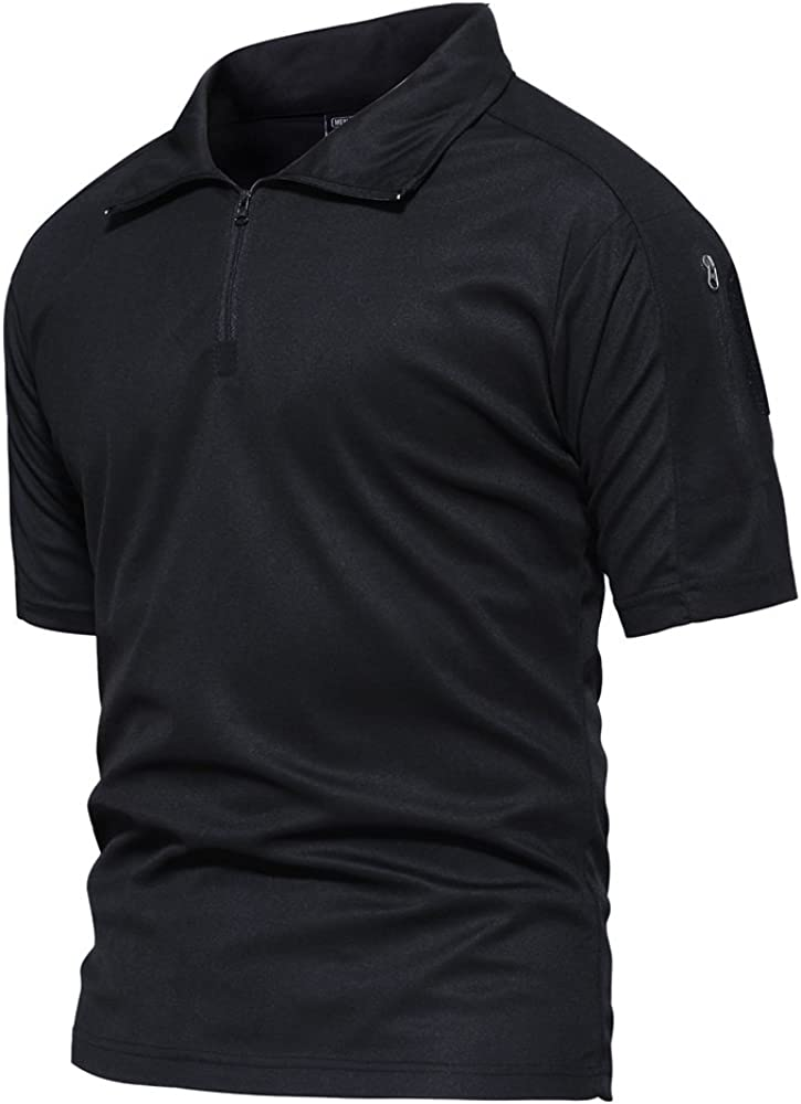 TACVASEN Men's Fixed price for sale Tactical Performance Polo Short Long Sleeve and Import 1