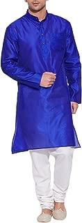 ShalinIndia Men's Emerald Faux Silk Kurta - Indian Fashions - Polyester Dupion