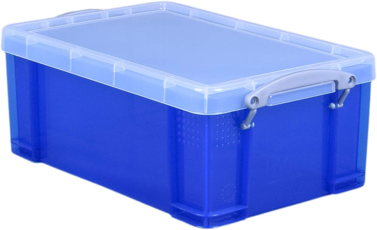 sale Really Useful Box 9 Blue Litre Bombing new work Translucent