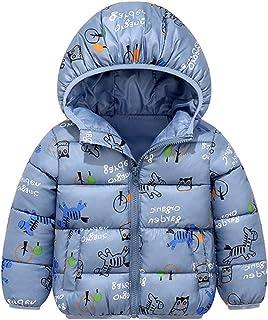Minizone Bambini Giacche con Cappuccio Inverno Cappotto Leggero Giubbotti con Cerniera