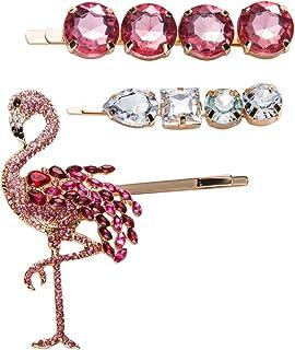 2 x Flamingo Hair accessories Bunny Ears Elastic Bobble xmas gift