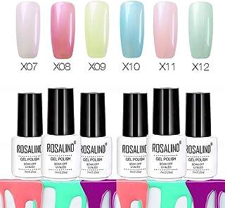 ROSALIND Fashion Pearl Series Juego de esmalte de uñas de gel de larga duración 6 paquetes 7 ml