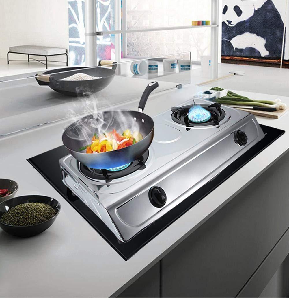Cocina de Gas Dos Fuegos, Hornillo a Gas 2 Fuegos, 70 x 36 x 10cm: Amazon.es: Hogar