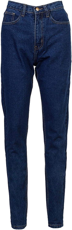 Alerghrg Basic Denim Jeans Classic 4 Season Women High Waist Jeans Vintage Mom Style Pencil Jeans