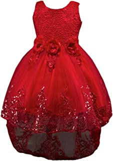 3c64252ccf636 NiSeng Filles Robes De Mariage Enfant Princesse Robe Cérémonie Party  Communion Cérémon Robe De Demoiselle d