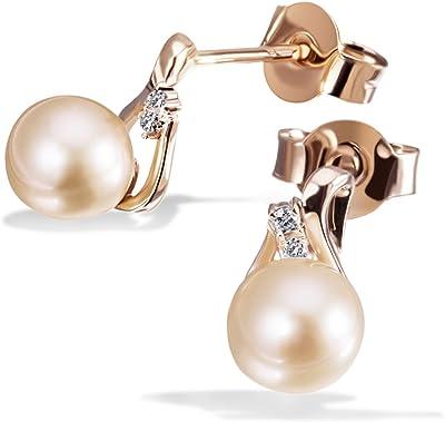 Goldmaid - Orecchini da Donna in Oro rosa 9k e Diamante