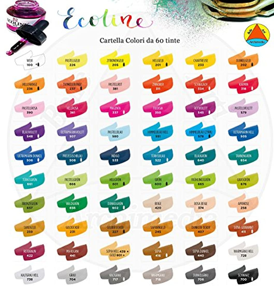 Talens : Ecoline : Liquid Watercolour Ink : 30ml : Black
