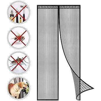 con cierre magn/ético 90 x 210 cm f/ácil de instalar sin taladrar Mosquitera para puerta de mosquitera con mosquitera color blanco 2020
