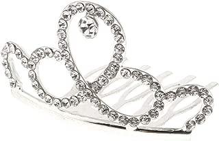 Flameer Mini Rhinestone Drop Crown Tiara Wedding Banquet Hair Jewelry - Silver, 5 x 4 x 3 cm