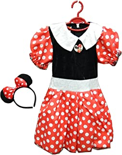 Minnie Mouse Child Costume Dress (Multicolor, S)