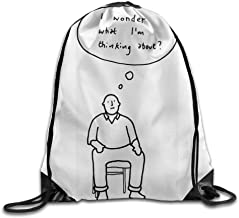 "Hip Hop Drawstring Banana Cute Cartoon Girl I'm Thin and Tall Design Print Drawstring Rucksack Shoulder Bags Gym Bag 17""x12"""