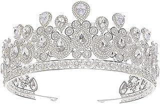 YNYA Tiare Tiara Nuziale Corona di meteoriti Corona Abito da Sposa Abiti da Sposa Accessori Abito da Sposa Regalo