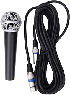 Microphone, Handheld Dynamic Microphone Professional Zinc Alloy with 5 Meters Connecting Cable, Wired Microphone for Recor...