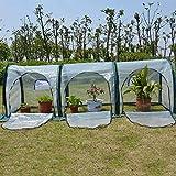 LIZIWS Greenhouse Invernadero Pop Up Grow House, Planta porttil Plegable PE Transparente Cubierto del jardn de Flores Shed Anticongelante Aislamiento (Size : 300X100X100CM)