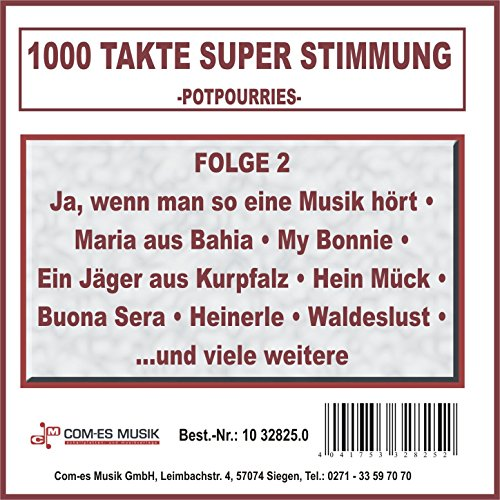 Stimmung am Rhein Medley: Kleine Winzerin am Rhein / Ich hab den Vater Rhein in seinen Bett gesehn / Lore, leih mir dein Herz / Wer soll das bezahlen / Lass das mal den Vater machen / Ich fahr mit meiner Lisa / Oh, wie bist du schön / Am 30. Mai i