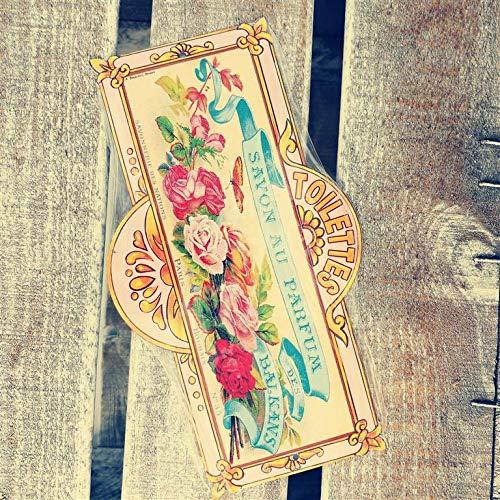 plaque metal de porte toilettes 8x20 cm savon parfum balkans-mp159