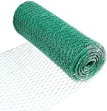 Fencer Wire 16 Gauge Vinyl Coated Hex/Poultry Netting Mesh 1.5