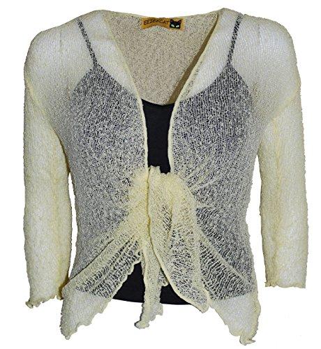 Coprispalle a bolero corto, lavorato a maglia, da donna, in tinta unita Lemon 29 Taglia unica