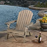 Christopher Knight Home Hanlee Folding Wood Adirondack Chair, Grey Finish