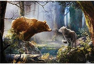 Houten Legpuzzels 1000 Stuks voor Volwassenen en Kinderen Wolf Bear Entertainment Speelgoed Educatief Gift Moderne Home Decor