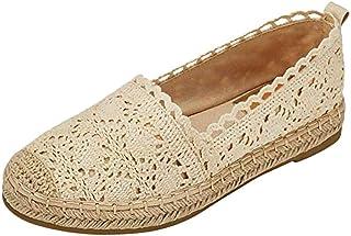 comprar comparacion Luckycat Zapatos Alpargatas Mujer Ocasionales Loafer Zapatos Moda Planos Alpargatas Alpargatas Clásica Lona Mujer Zapatill...