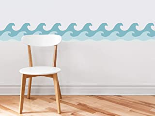 Sunny Decals Wave Wall Border Fabric Wall Decal (Set of 2), 7.8