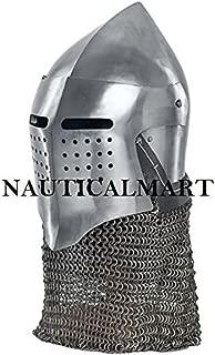 NAUTICALMART Medieval Helmet SCA Helmet LARP Helmet Warrior Helmet Steel Armor LARP Armor