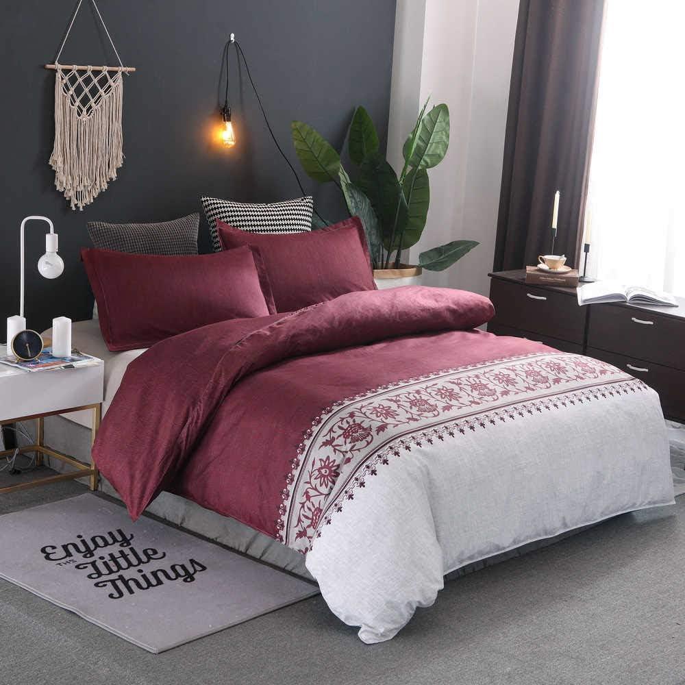 ついに再販開始 BWE Home Red Duvet Cover Full Beige Jacq ◇限定Special Price Size Bohemian Satin