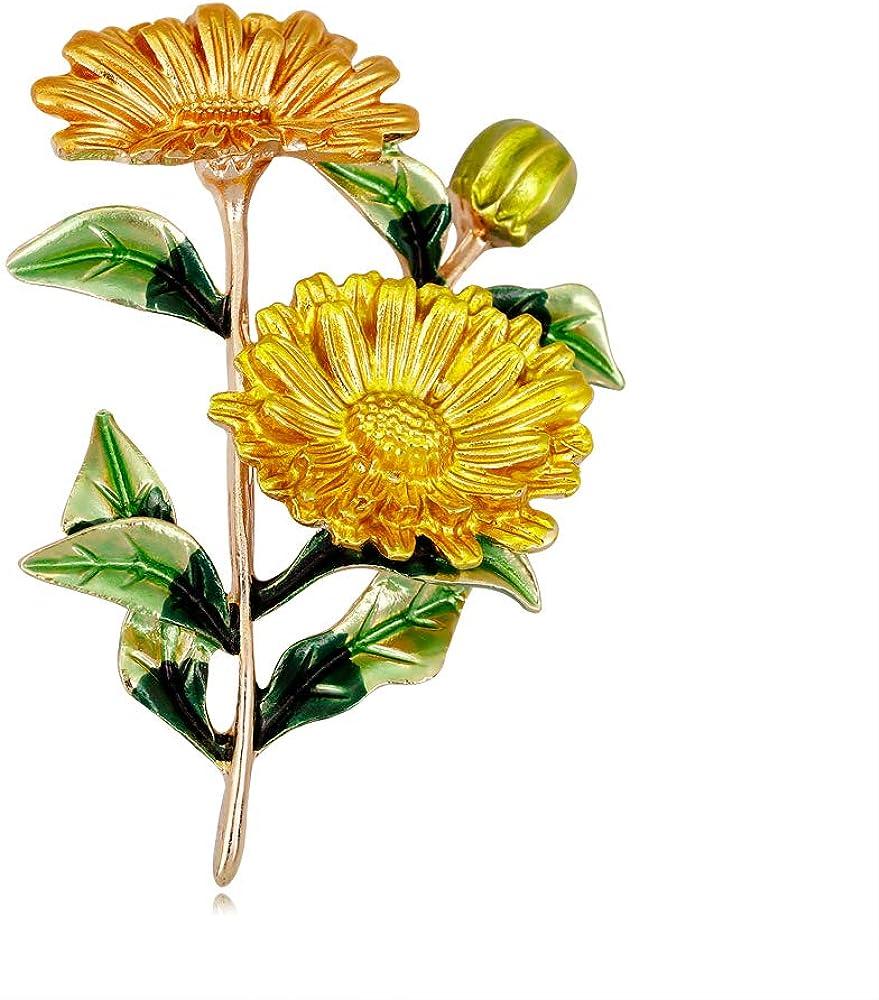 GYAYU Women's Daisy Brooch Pin