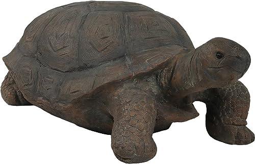 discount Sunnydaze Todd The Tortoise Garden Statue, Large Indoor/Outdoor online sale Yard Decoration, 30 high quality Inch Long online