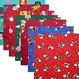 pologyase 50x50cm Weihnachten Baumwollstoff Stoffpakete 8St