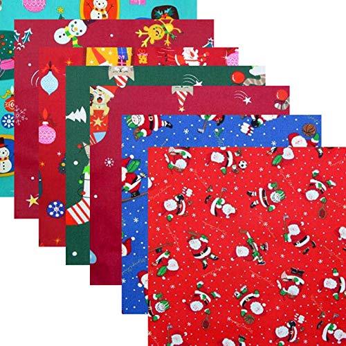 pologyase 50x50cm Weihnachten Baumwollstoff Stoffpakete 8St Patchwork Stoffe Baumwolle Stoffreste Paket Stoffpakete japanischen DIY Craft Nähen Stil Geeignet