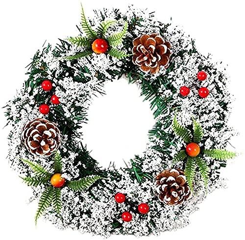 JYHZ Decoraciones de Navidad, Guirnalda de Navidad, Estilo Rural Adornos de Corona de Navidad a Mano, Decoración navideña al Aire Libre (Color : Colorful)