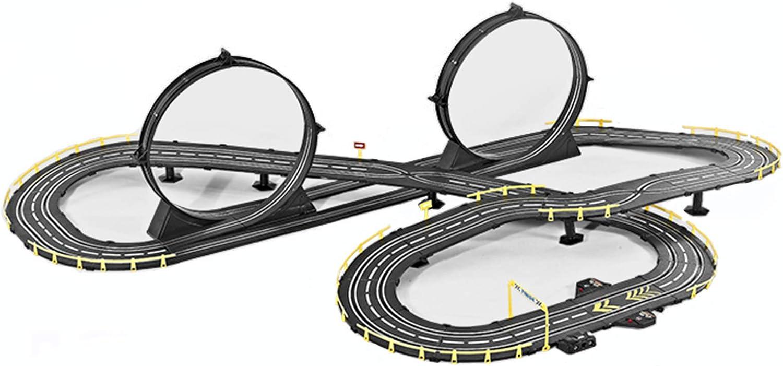 LINGLING Slot Car Sets Children's Track Racing Clockwork Car Rac