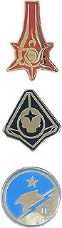 JINX Halo 5: Guardians Collectible Enamel Pin Set, 3 Pack (Swords of Sanghelios, Firestorm Osiris, Blue Team)