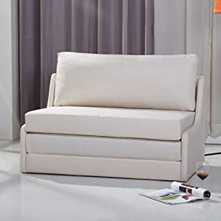 Gold Sparrow Albany Convertible Loveseat Sleeper, Beige