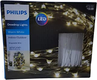 Warm White Indoor/Outdoor Dewdrop LED Lights with Wall Plug In