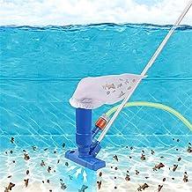 Funming Aspirador de piscina con cepillo portátil mini aspirador piscina accesorios de limpieza con 5 secciones poste